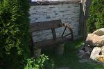 деревянная скамейка ручной работы