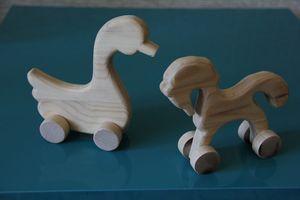 деревянные игрушки уточки-лошадки