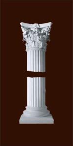 Колонна из гипса с капителью коринфского ордера