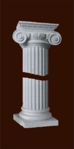 Колонна из гипса с капителью ионического ордера