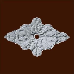 Декоративная розетка из гипса в форме ромба с орнаментом
