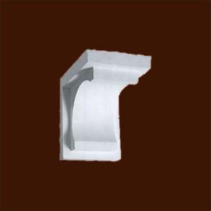 Кронштейн из гипса с гладкой поверхностью