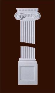 Прямоугольная пилястра с дорической капителью