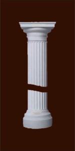 Колонна из гипса с капителью дорического ордера