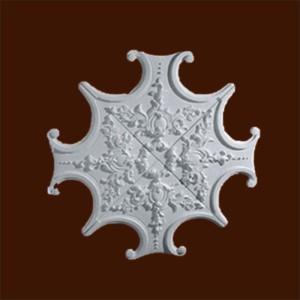 Декоративная розетка из гипса в форме звезды с орнаментом