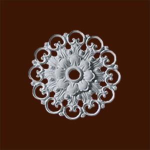 Декоративная резная розетка из гипса с орнаментом